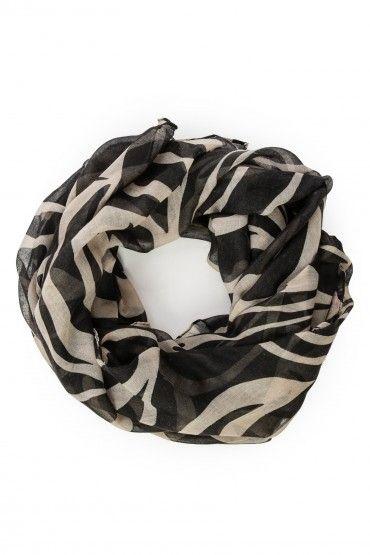 zebra print scarf.