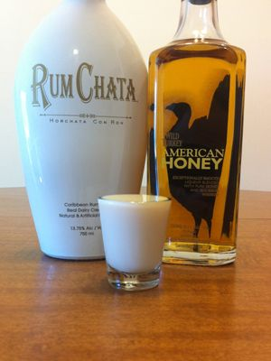 Honey Badger - RumChata isn't for everyone nor is a honey whiskey. However, when they are combined they are awesome. You get the smooth entrance with a little honey flavor and than the final kick from the whiskey. It's great!