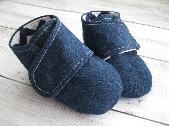 Denim shoes for boys toddler shoes newborn by allthingsforbaby