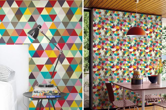 triangle wallpaper for walls - Google Search