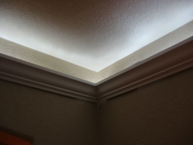 Crown Molding With Rope Lighting Deco Ideas Pinterest