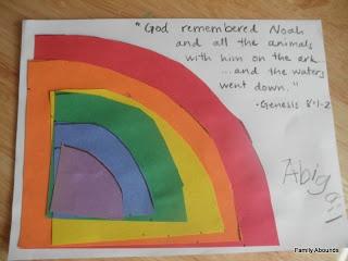 Toddler Bible Lessons - Noah's Ark Rainbow Craft