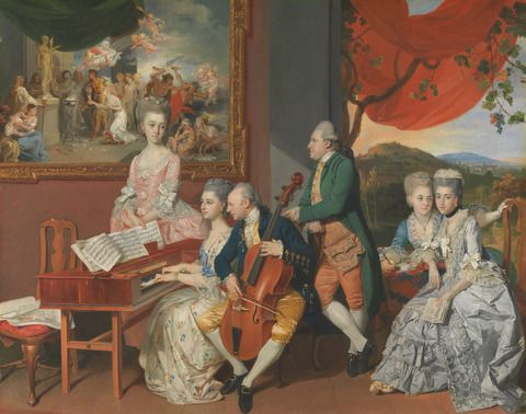 Johan Joseph Zoffany, 1733–1810, German, active in Britain (from 1760), The Gore Family with George, 3rd Earl Cowper, ca. 1775, Oil on canvas, Yale Center for British Art, Paul Mellon Collection