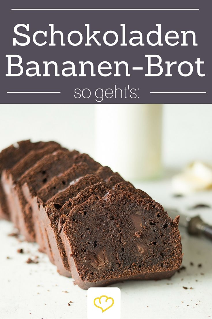 Schokoladen-Bananenbrot aus bananigen Schoko-Teig und extra Schokostückchen für die doppelte Schokoladendröhnung!