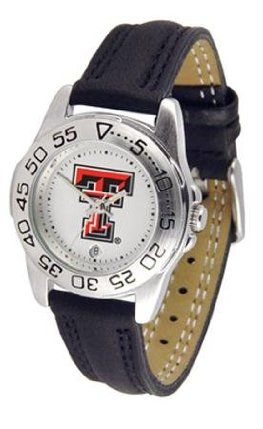 Texas Tech University Women's Leather Band Athletic Watch by SunTime. $49.95. Women. Leather Band-Scratch Resistant Crystal. Calendar Function With Rotating Bezel. Officially Licensed Texas Tech Red Raiders Women's Leather Band Athletic Watch. Adjustable Band. Texas Tech Red Raiders ladies watch with leather sports band. Women's Red Raiders watch comes with a genuine leather strap, date calendar, and rotating bezel/timer that circles the scratch-resistant crystal. This s...