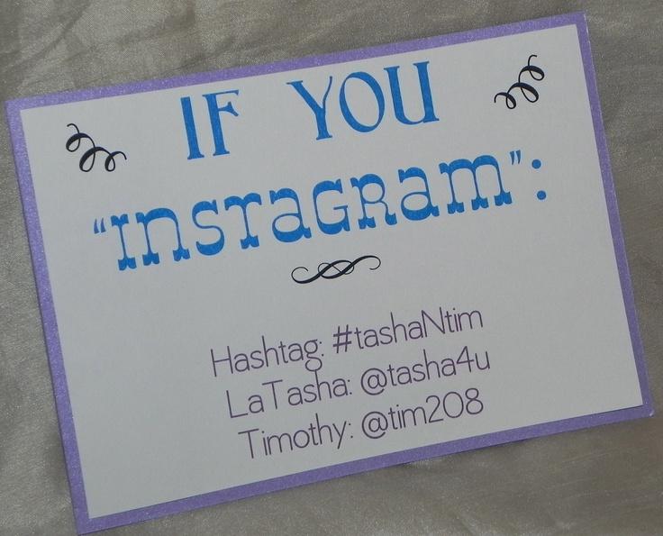 Instagram Wedding Sign/If You Instagram/Hashtag Sign, 5x7. $5.00, via Etsy.