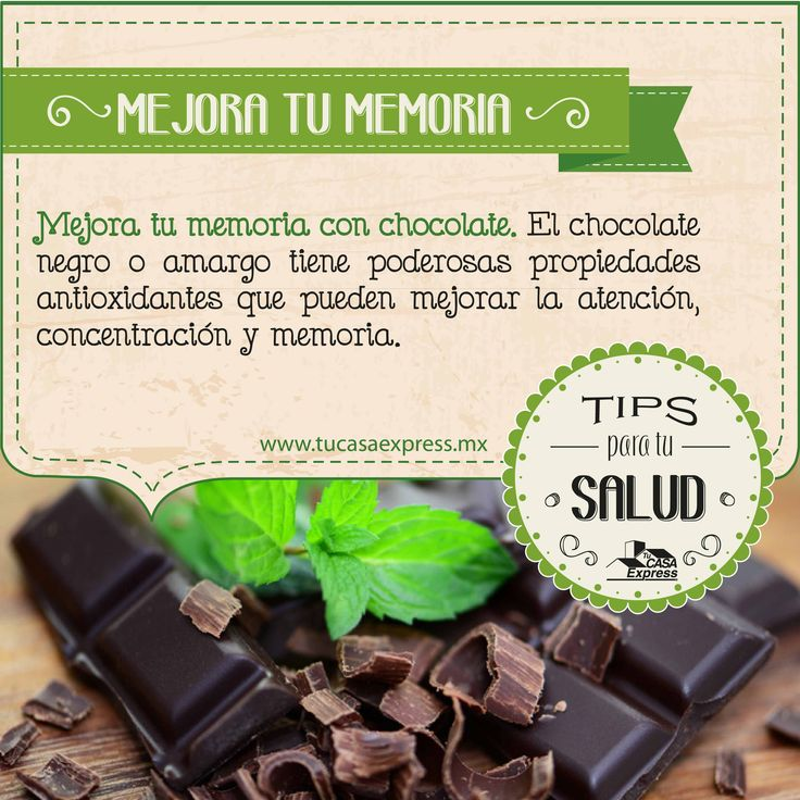 Mejora tu memoria con chocolate. #Salud #TipsExpress