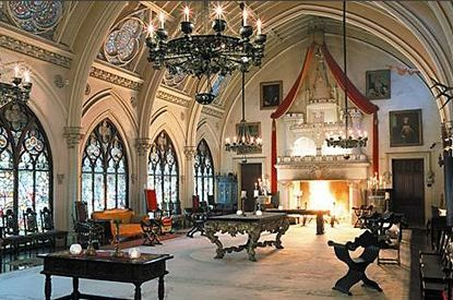 Gothic revival interior residential architecture for Castle architecture design