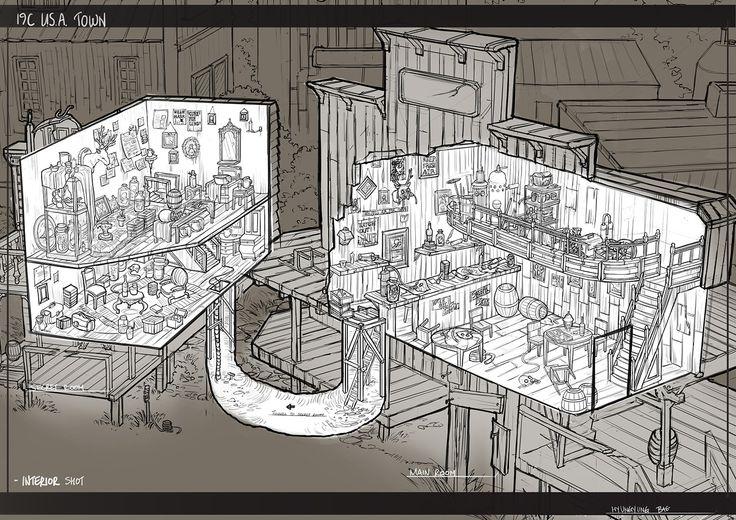 Inside_cut out view of the buildings, Brenda Bae on ArtStation at https://www.artstation.com/artwork/KzlR