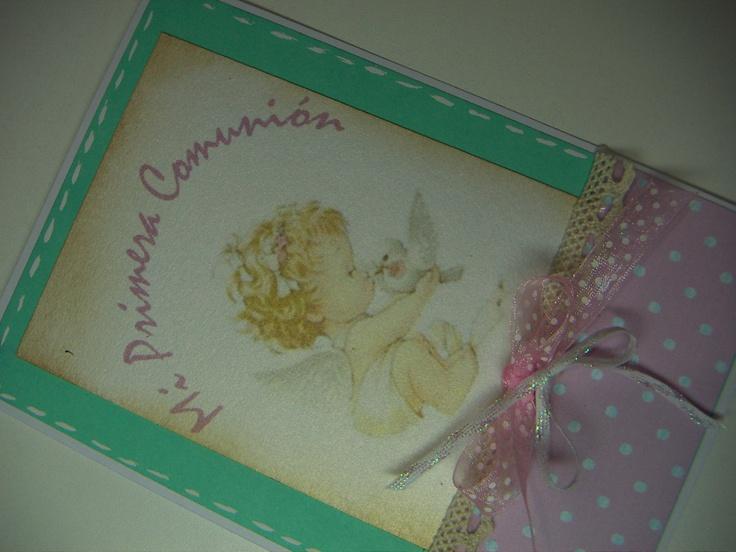 tarjeta para felicitar primera comunion