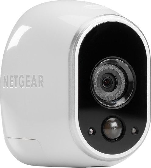NETGEAR - Arlo Smart Home Add-On Indoor/Outdoor Wireless High-Definition Security Camera - White/Black - Angle Zoom