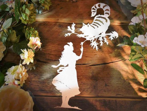 Papercut DIY Design Template Cheshire Cat' by PaperPandaPapercuts