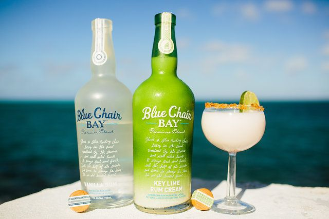 MY MY MY KEY LIME PIE COCKTAIL RECIPE // 3 oz. Blue Chair Bay Key Lime Rum Cream + .5 oz. Blue Chair Bay Vanilla Rum + 2 oz. coconut water // Shake all ingredients together and strain into martini glass.