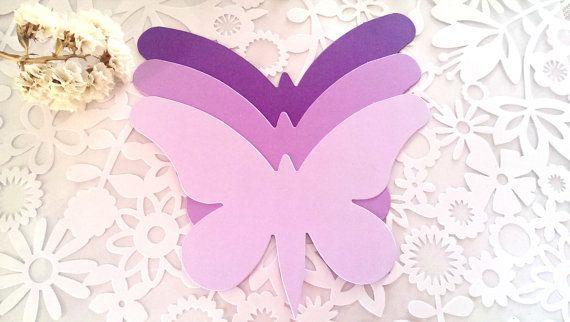 Grote vlinder sterven cut(A), paarse vlinder sterven bezuinigingen, paarse vlinder knipsels, Paper Butterfly, bruiloft Butterfly, lavendel vlinder sterven bezuinigingen