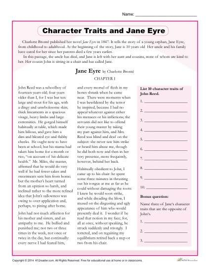 answering questions about the novel jane eyre by charlotte bronte Analytical questions for jane eyre by charlotte bronte the following short answer questions this group research project for charlotte bronte's novel jane eyre.