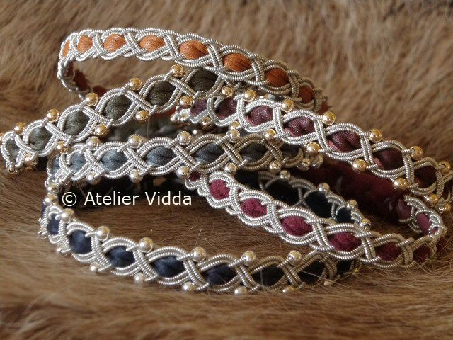 """""""Naked"""" Saami bracelets.... just the braid, plain, with sterling silver or 14k gold plated beads."""