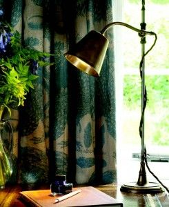 Abercrombie adjustable table lamp from Jim Lawrence