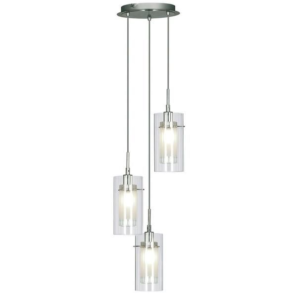 Searchlight 2300-3 Duo Polished Chrome 3 L& Cluster Pendant Light with Clear u0026 Frosted  sc 1 st  Pinterest & Best 25+ Cluster pendant light ideas on Pinterest | Cluster lights ... azcodes.com