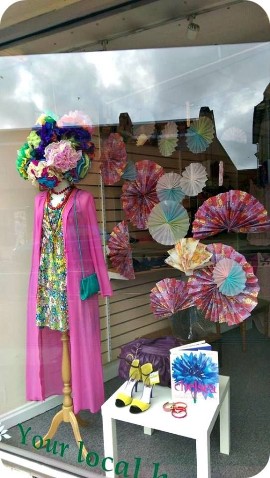 spring    summer window display at st peters hospice