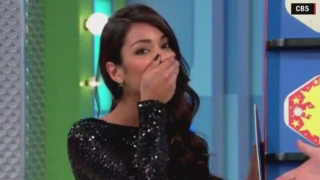 """What do we have for the contestant on """"The Price Is Right""""? A new car -- by mistake, thanks to model Manuela Arbelaez."""
