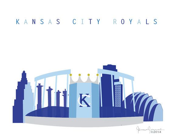 As a celebration of the Kansas City Royals sweeping the ALCS and playing in the World Series, here is a Royal-themed Skyline of Kansas City
