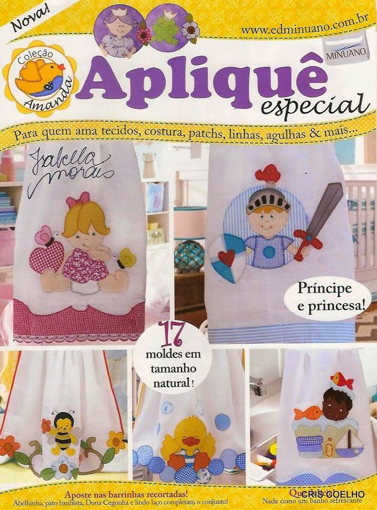 Revistas de manualidades Gratis: Apliques para bebes en patchwork