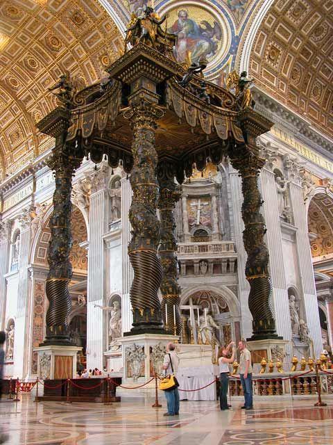 image of baldacchino | Baldacchino di San Pietro di Bernini - Descrizione dell'opera e mostre ...