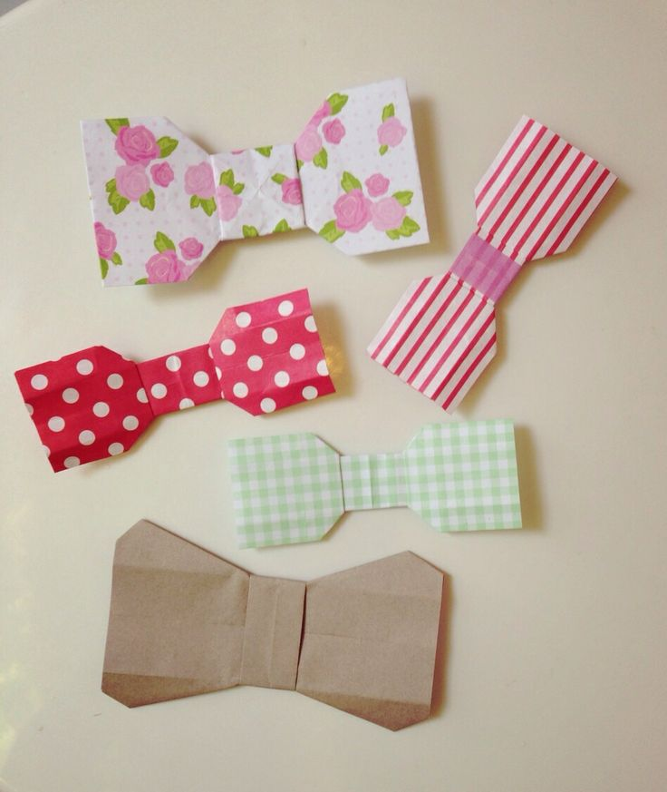 how to make an origami bow tie with paper