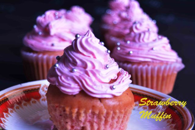 Fruity Muffins Using Frozen Strawberry /Eggless Strawberry  Muffins Today's treat #fruitymuffins #strawberry #eggless #butterfree #delish #munchon #baking #cake Recipe at: www.annapurnaz.in