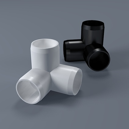1 1 4 3 way pvc elbow fitting furniture grade for Pvc pipe furniture