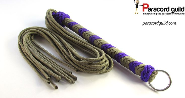 How to make a paracord flogger.