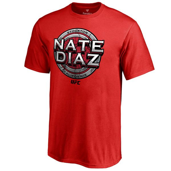 Nate Diaz UFC Youth Cracked T-Shirt - Red - $19.99
