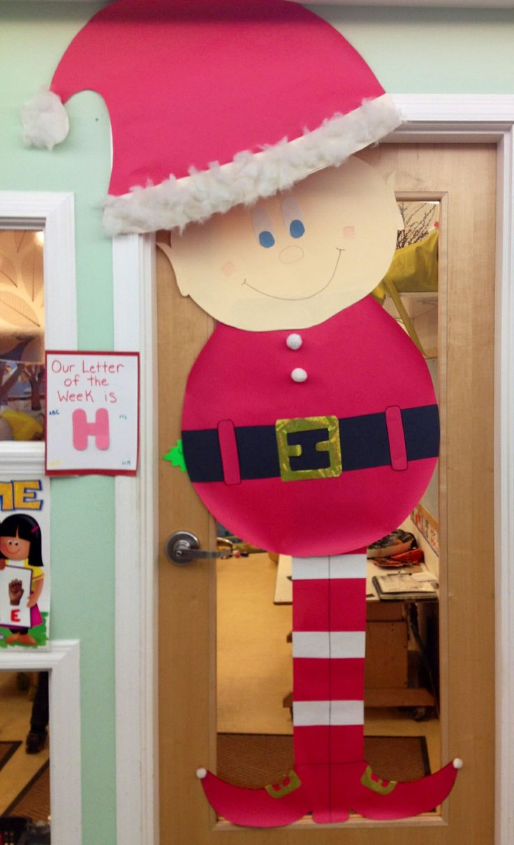 Christmas Decoration For Preschool Classroom ~ Best classroom doors images on pinterest decorated