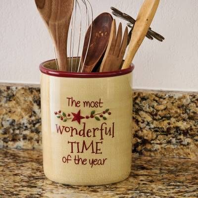 Need A Place To Store Those Wooden Spoons And Utensils Star Berry Vine Utensil Farmhouse Christmas KitchenFarmhouse Kitchen DecorKitchen