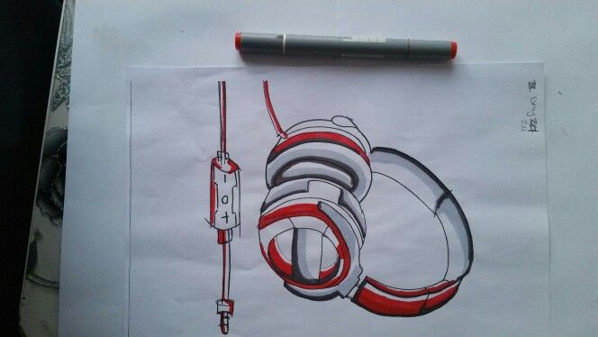 DAY 24: HEADPHONE DESIGN USING MARKERS.