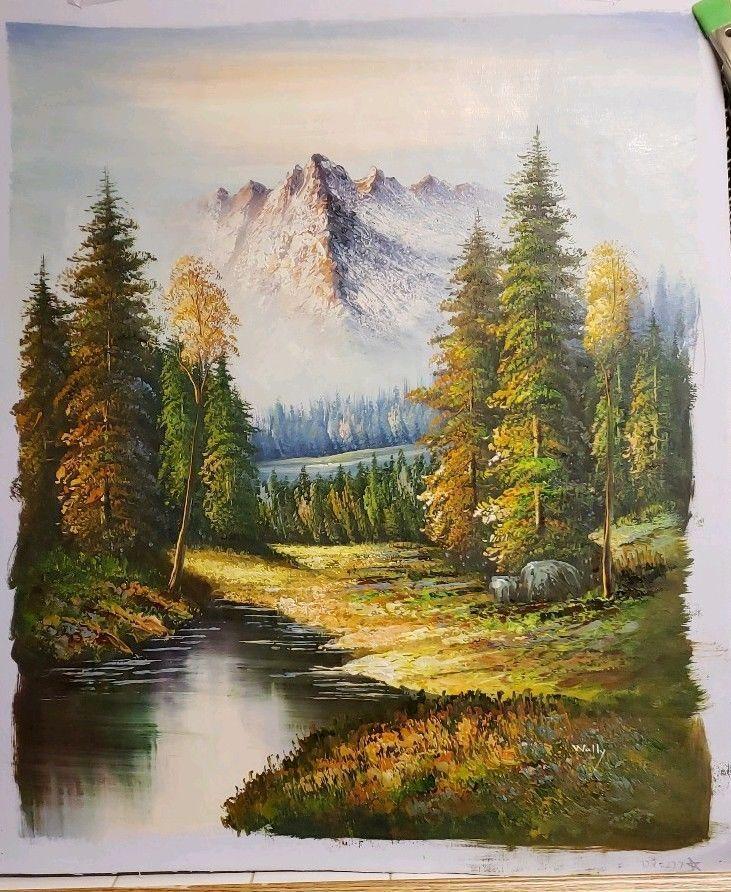 Mountain Canvas Art Mountain Canvas Mountain Canvas Art Mountaincanvas Oil Painting Landscape Mountain Canvas Oil Painting On Canvas