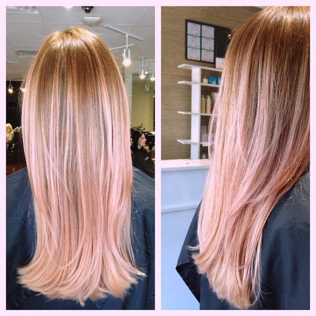Instagram media by madebymess - rose gold ombré for my client! #balayage #ombre… More