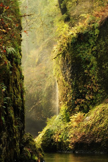 Punchbowl Falls, Eagle Creek, Columbia River Gorge National Scenic Area, Oregon.