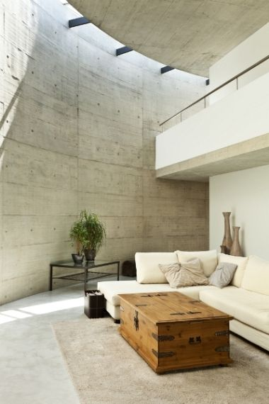 awesome concrete wall decorations minimalist living room | 17 Best images about | P | INTERIORS . BEST OF on ...