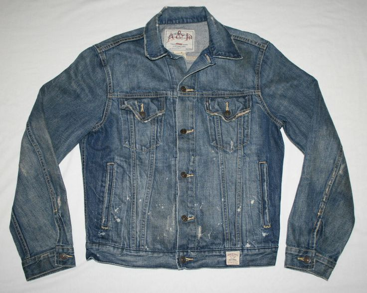 Abercrombie & Fitch Denim Jean JACKET-Mens Large-trucker