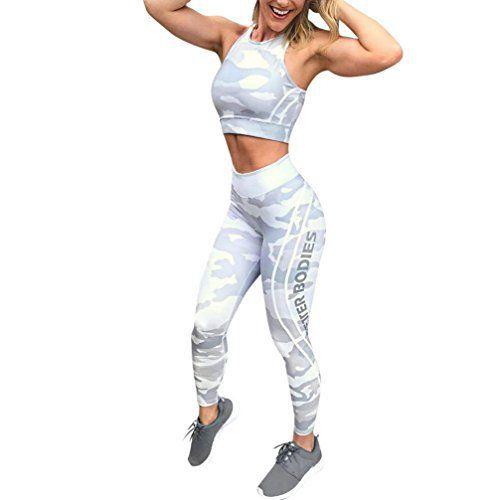 Femme Yoga Pantalon, Morwind Camouflage Lettres Imprimé Mode Faire des Exercices Leggings Fitness: Fait d'spandex polyester, avec une large…