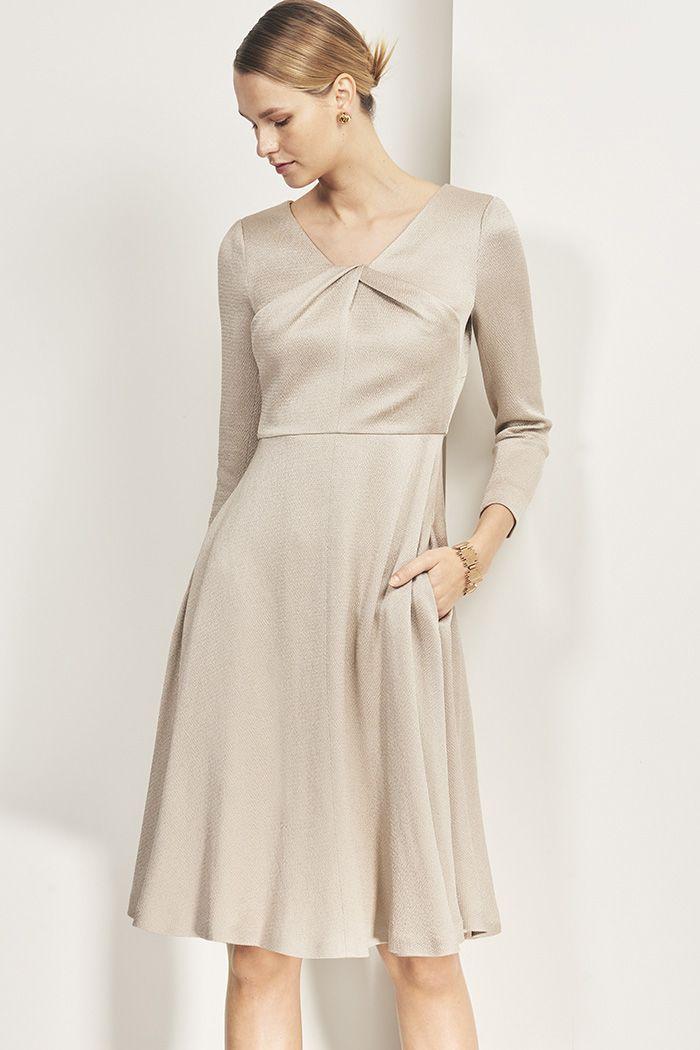 11fe46e64 Bellevue Dress Oyster Textured Satin | Summer Wedding | Dresses ...