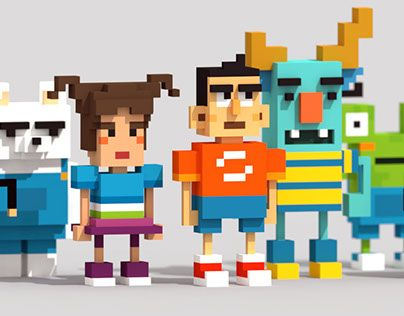 """Check out new work on my @Behance portfolio: """"Personajes Voxel 1.0"""" http://be.net/gallery/46321749/Personajes-Voxel-10"""