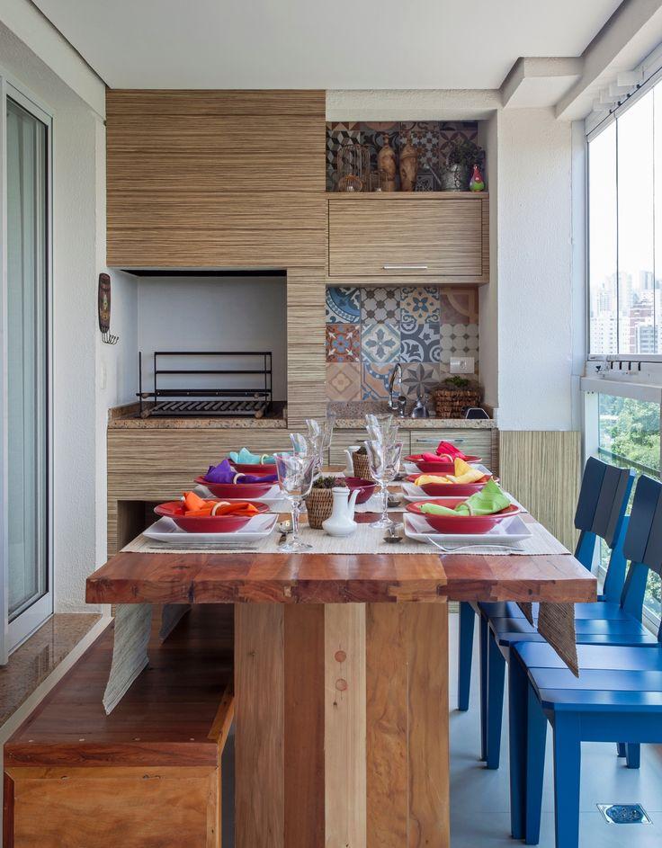 18 ideias para compor a varanda gourmet do seu apê