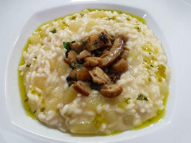 Il risotto ai porcini patate e rosmarino preparato da Gregori Nalon è…