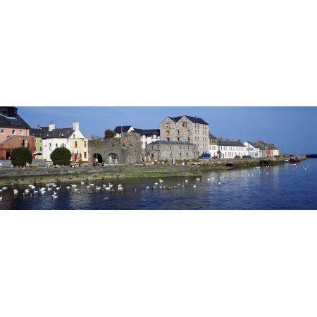Spanish Arch Galway City Ireland Canvas Art - The Irish Image Collection Design Pics (35 x 11)