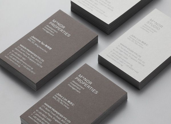New Brand Ideny For Manor Studio By Manic Bp O Business Cards Card Design Branding
