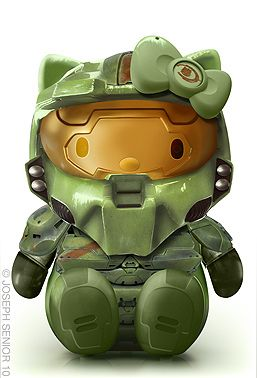 Halo Kitty (Joint birthday party idea for the kids)