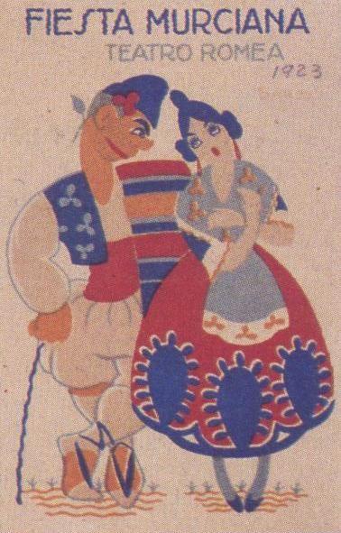 Fotos antiguas: El Bando de la Huerta.Fiesta murciana. Programa de mano. 1923