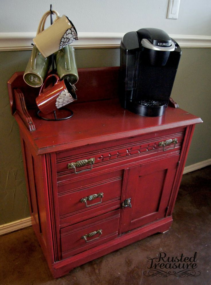 Old Wash Table (Before And After)    Good Idea, Put Small Dresser